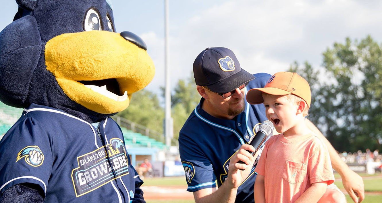Kalamazoo Growlers Kalsee Play Ball Kid