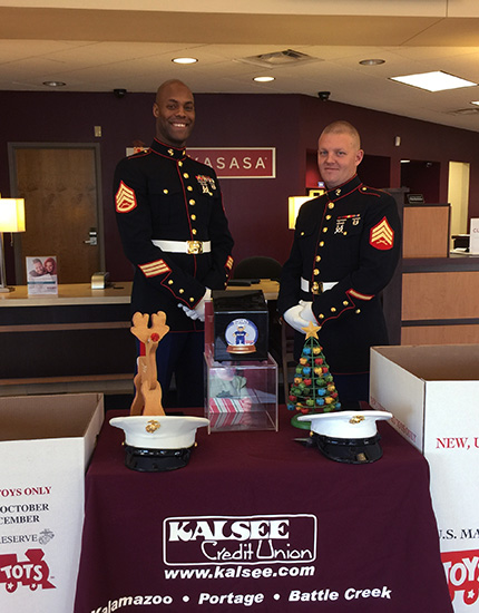 Marine Corps Toys for Tots donations
